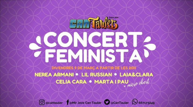 Concert feminista 9 de març