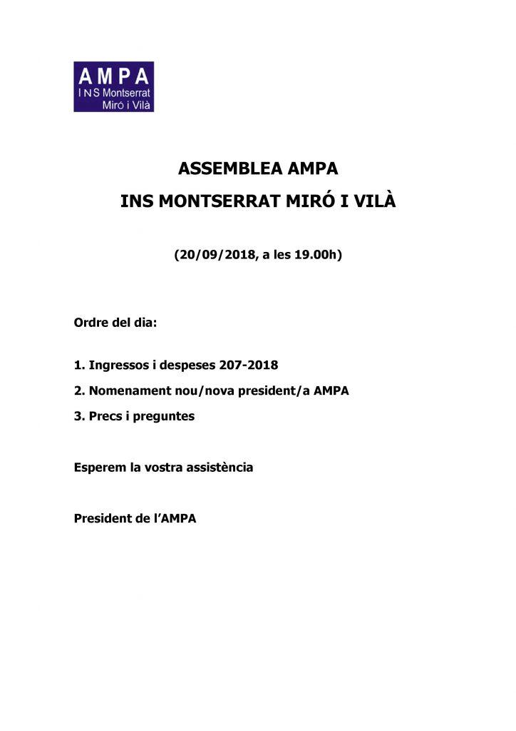 Assemblea AMPA
